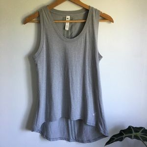 Oversized adidas Muscle Tank in Gray